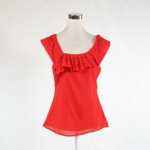 Orange BARASCHI  sleeveless blouse 12